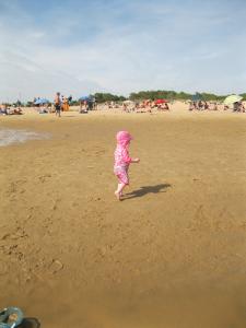 Child friendly beach at La Palmyre