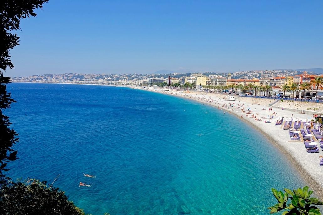 Nice, Cote d'Azur beach