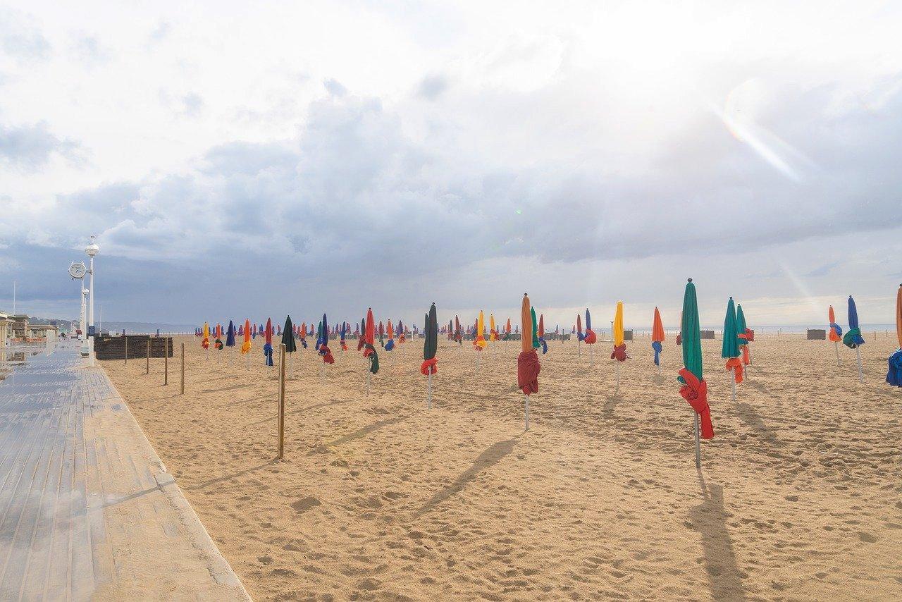 Deauville beach, Normandy